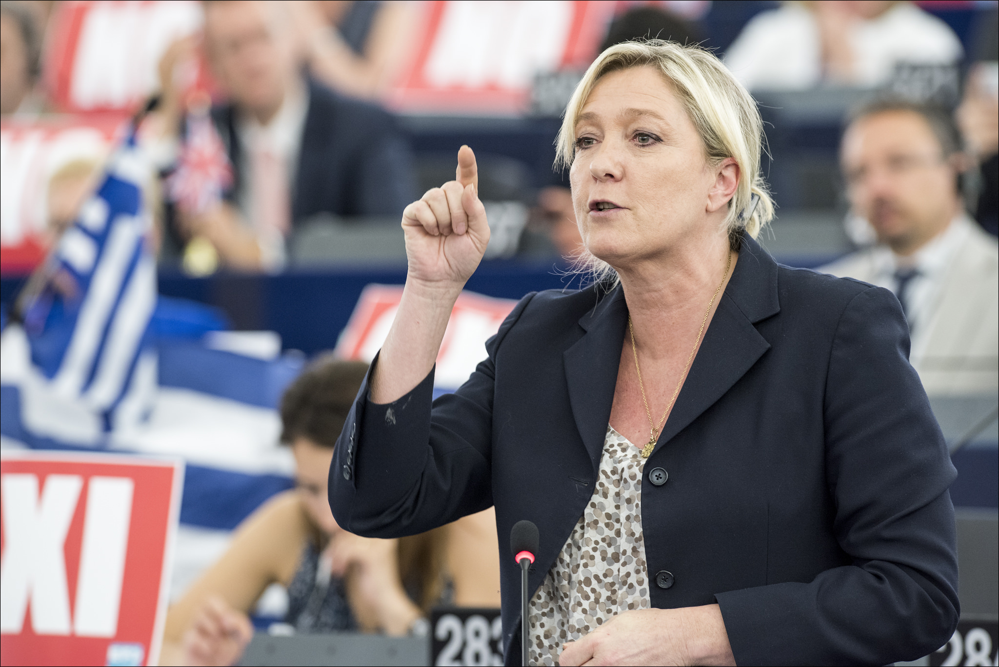 Marine Le Pen at a European Parliamentary debate | CC Flickr: European Parliament